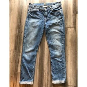 7 For All Mankind - Skinny Crop And Roll Jeans